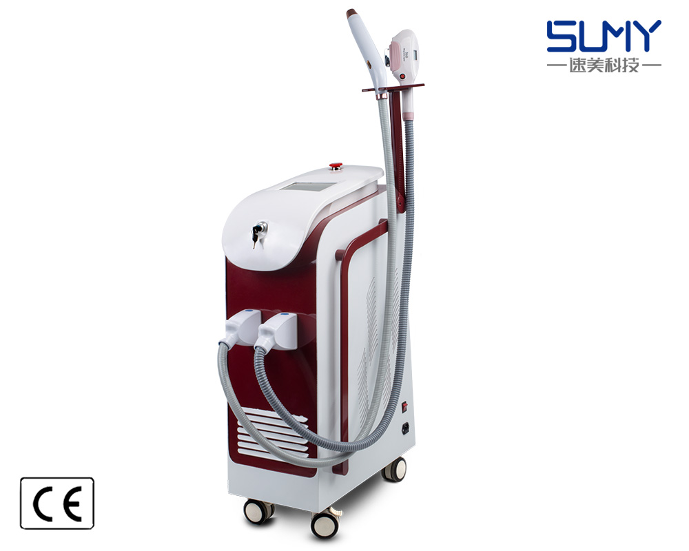 Multifunction opt shr nd yag laser hair remove machineair removal 1064nm/532nm/1320nm